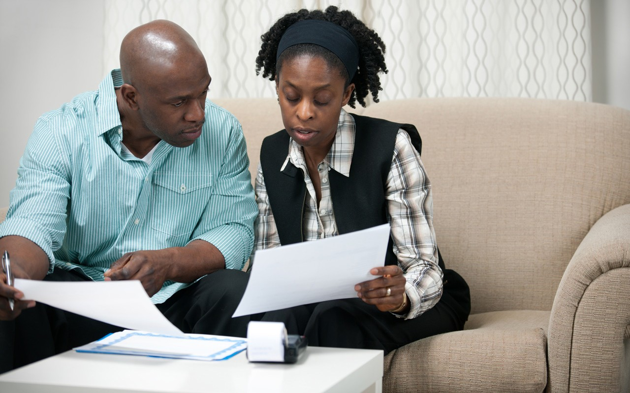 financial counselor with client